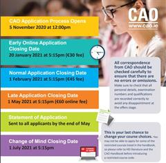 CAO closing date Saturday May 1st