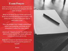 A prayer for Leaving Cert 2021 students