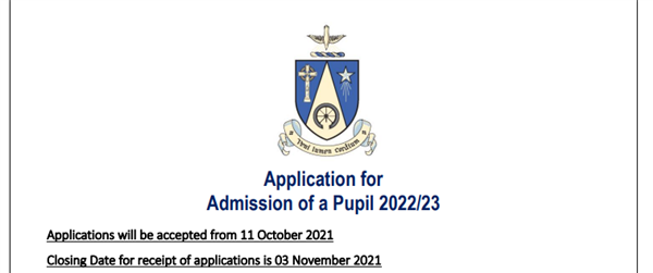 Application Form for Admissions 2022/23